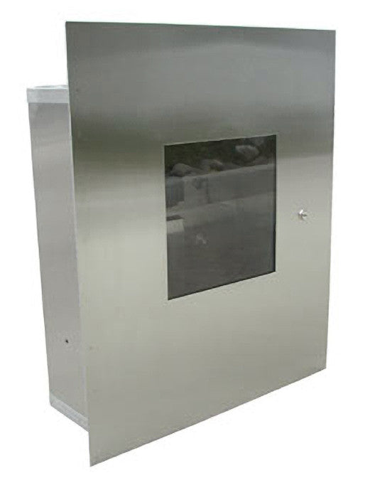 Haws 9205.REC recessed mounted 18-gauge stainless steel cabinet