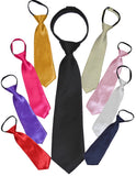 ZSNT - SOLID ZIPPER TIES - VARIOUS COLORS
