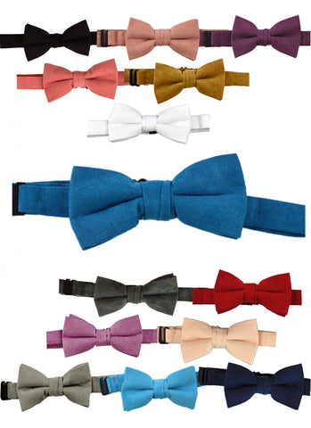 SUEDE BOW TIES - VARIOUS COLORS