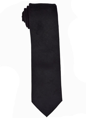 Men's Suede Black Tie