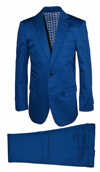 ST2043 Cobalt Cotton Suit