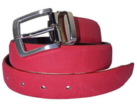 TB1268 Herringbone Suede Belt Red