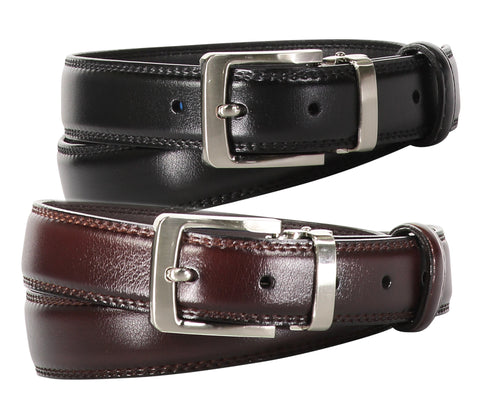 TB1270 Solid Stitched Belt 2 Colors