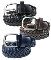 TB1276 Leather Braided Belt 3 Colors