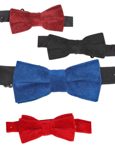 CORDUROY BOW TIES - VARIOUS COLORS