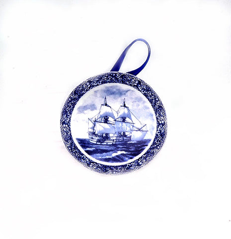Mayflower Delft Plate Ornament