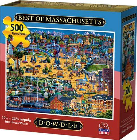 Best of Massachusetts 500 Piece Puzzle