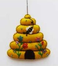 Bee Hive Felt Ornament