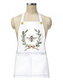 Bee Olive Wreath Apron