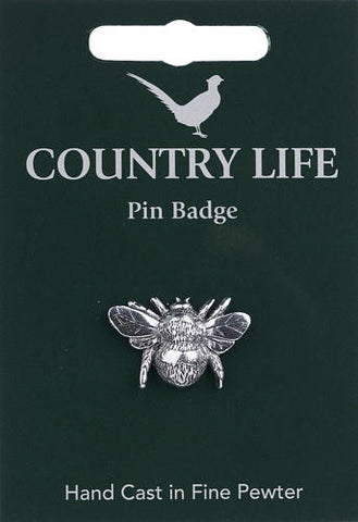 Bee Pin Badge - Pewter