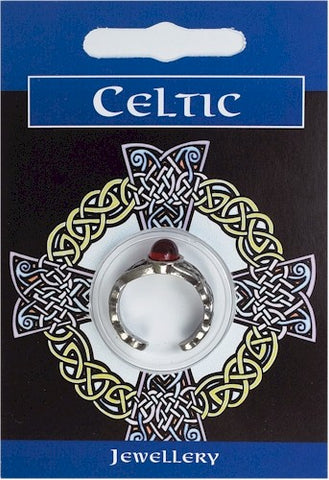 Celtic Gem Ring - Pewter