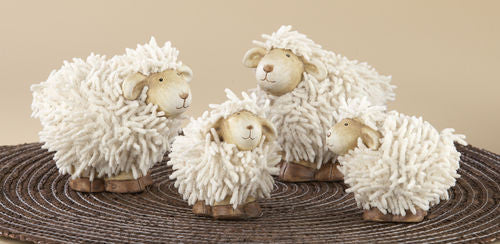 Ceramic Shaggy Sheep