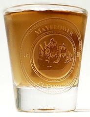 Etched Mayflower Shot Glass