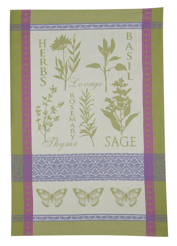 Garden Rules Jacquard Tea Towel