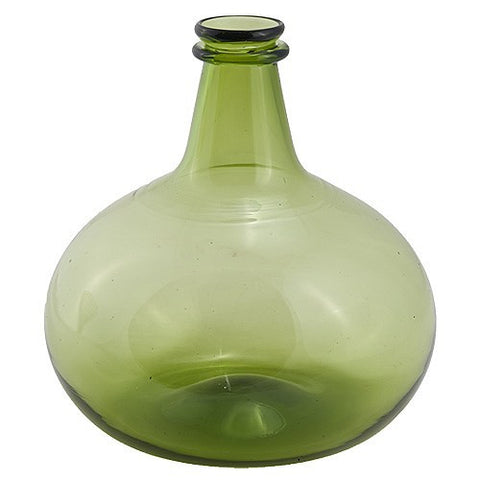 Green Glass Onion Bottle