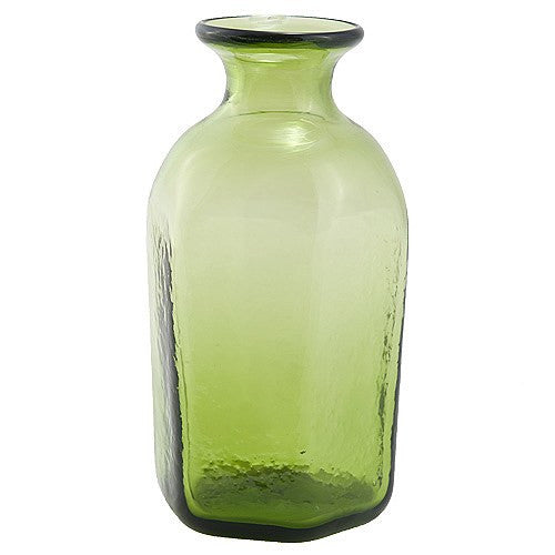 Green Glass Vial