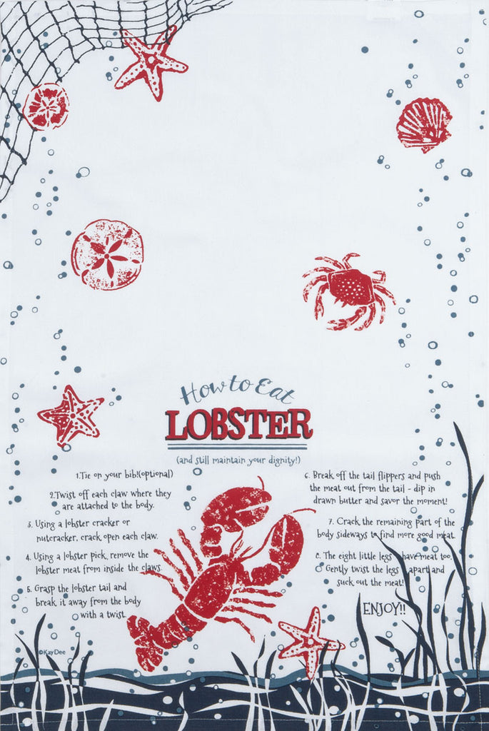 How to Eat a Lobster Tea Towel