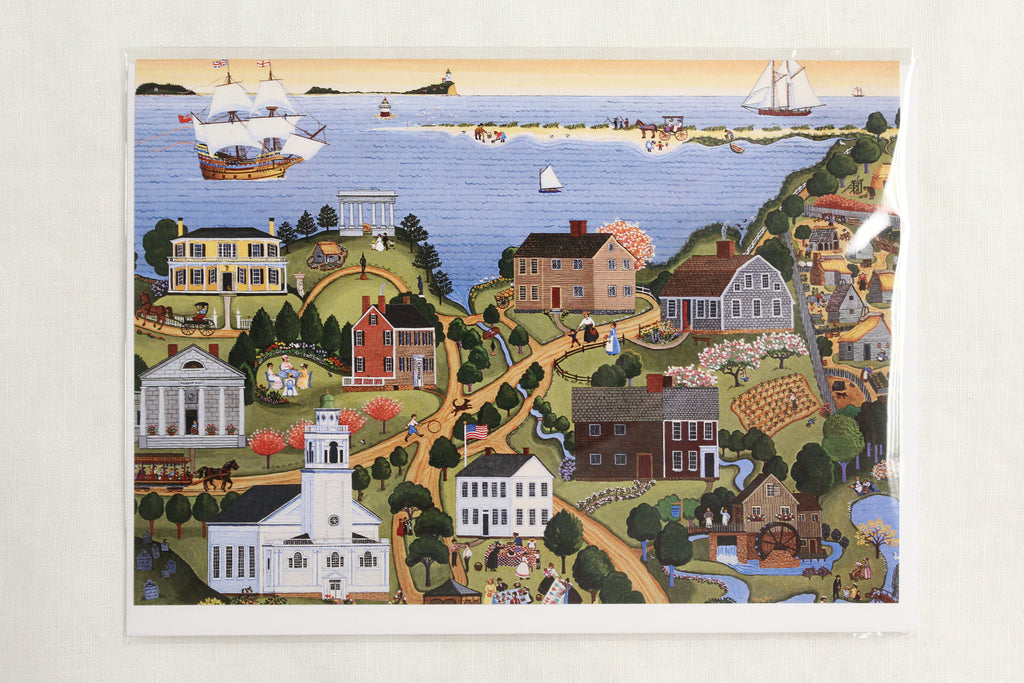 Historic Plymouth Marie E. Fox, 1987, Single Note Card