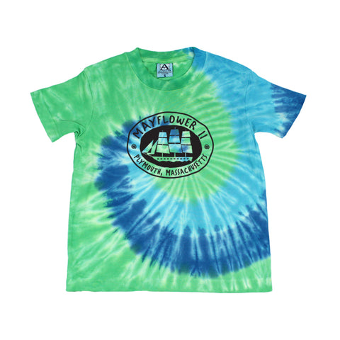 Mayflower II Blue Tie-dye T-shirt