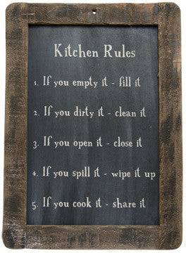 Kitchen Rules Blackboard