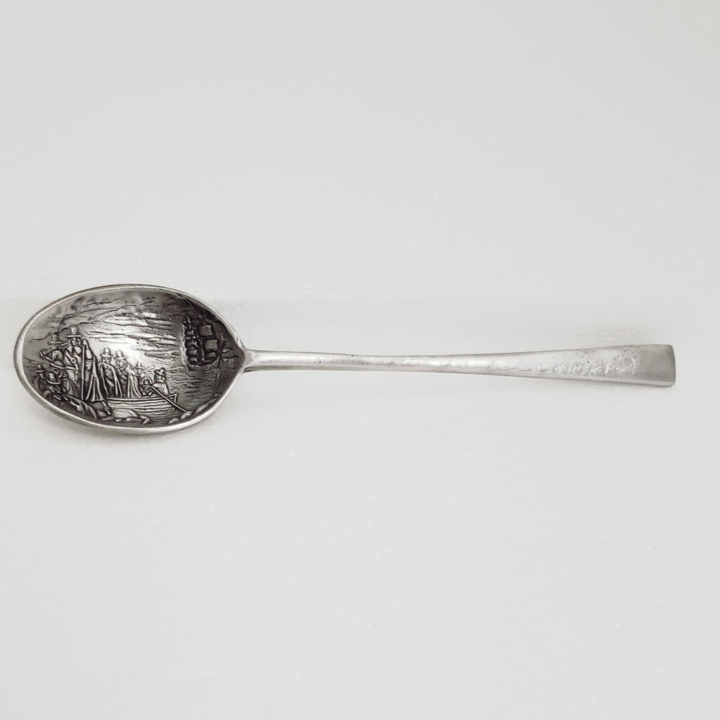 Landing of the Pilgrims Serving Spoon