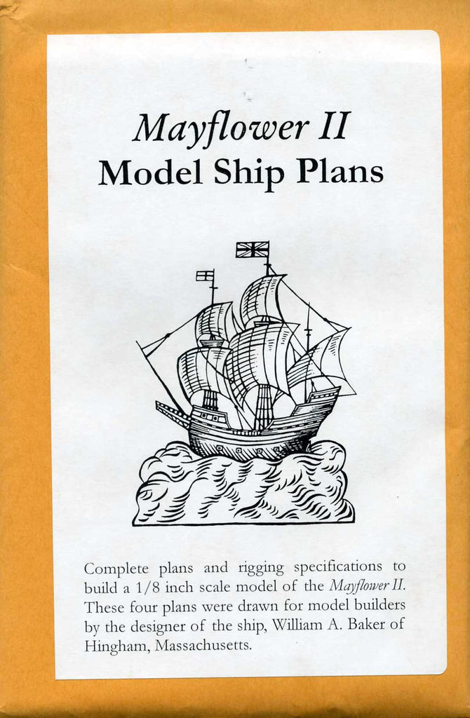 Mayflower II Model Ship Plans