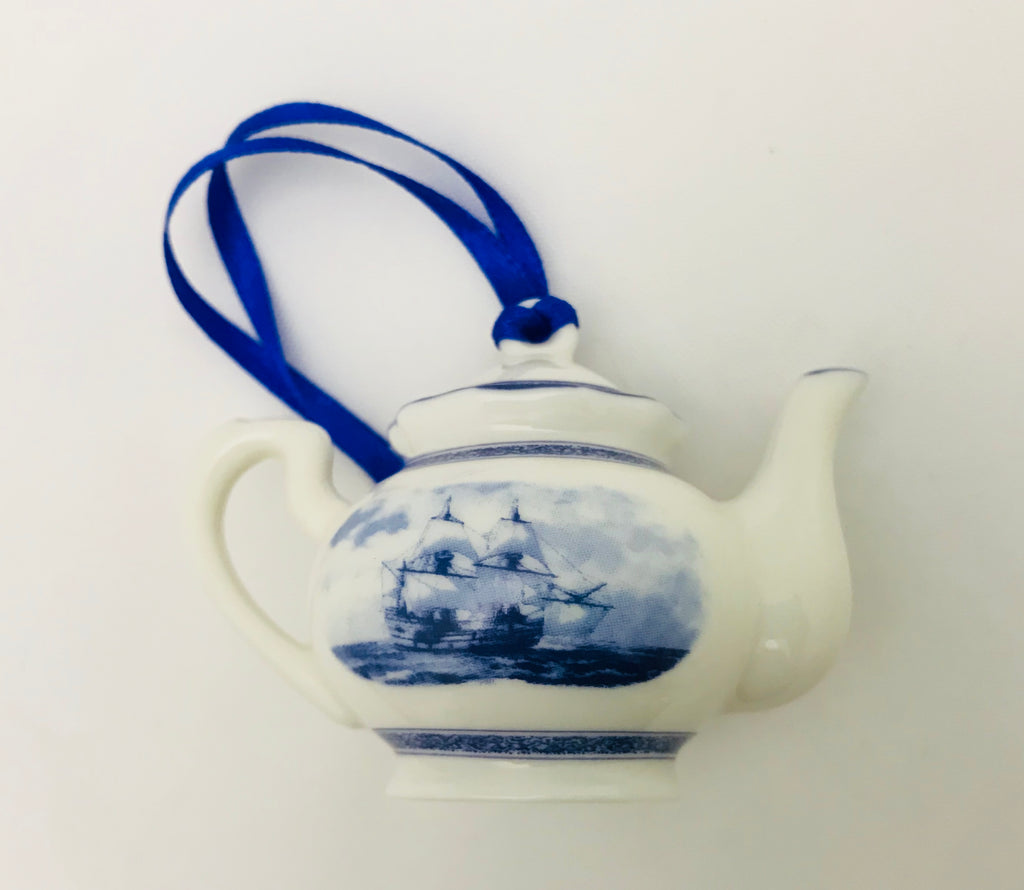 Mayflower Delft Teapot Ornament