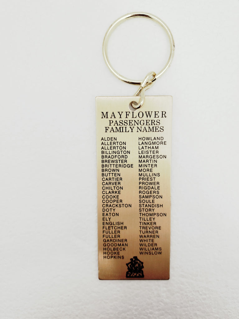Mayflower Passenger List Key Chain