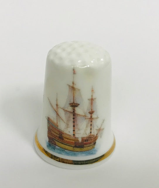 Mayflower Quadricentennial Thimble