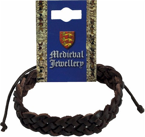Medieval Leather Single Plaited Bracelet