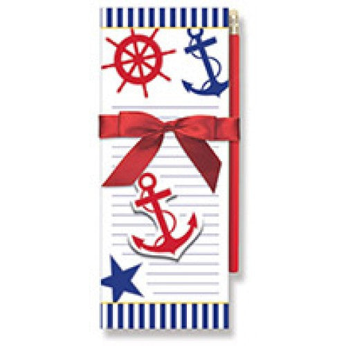 Nautical Chic Magnetic Pad Gift Set