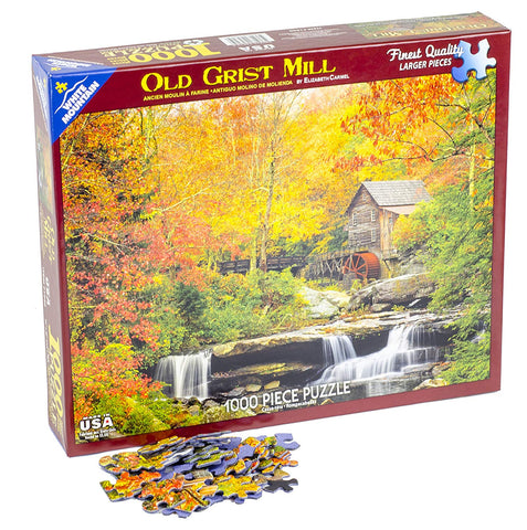 Old Grist Mill 1000 Piece Jigsaw Puzzle