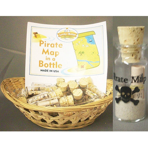 Pirate Map in a Bottle