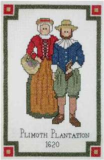Plimoth Couple Counted Cross Stitch Kit