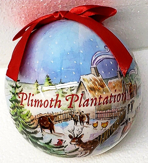 Plimoth Plantation Collage Ornament
