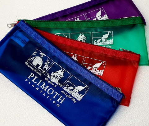 Plimoth Plantation Frosted Pencil Pouch
