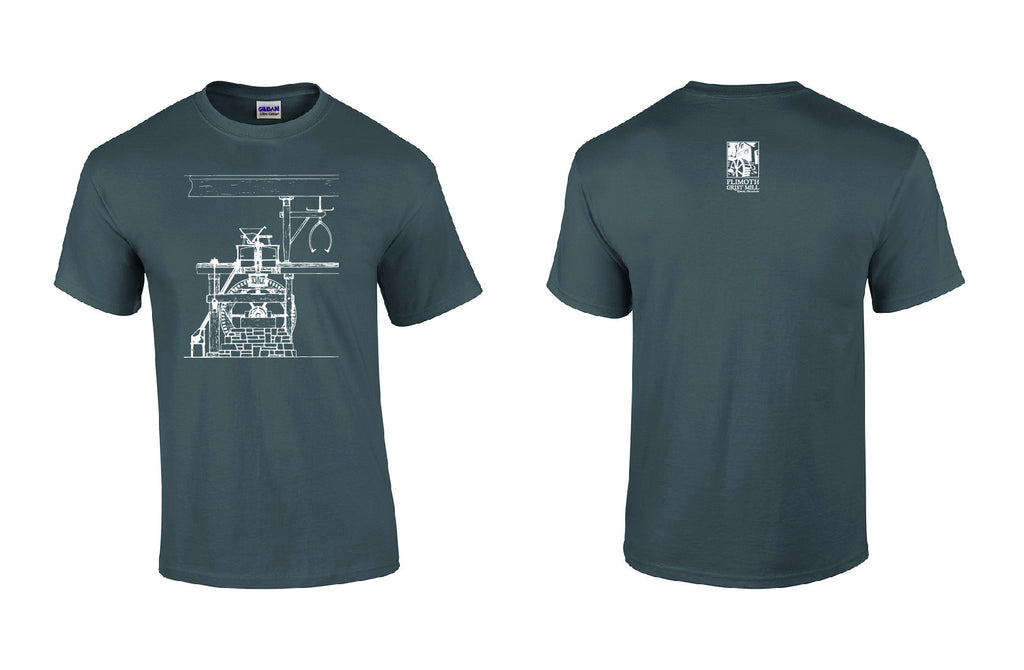 Plimoth Grist Mill Schematic T-shirt