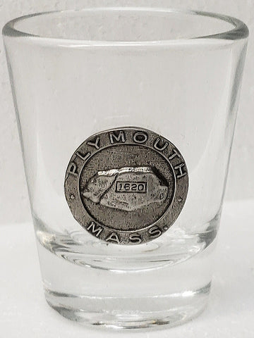 Plymouth Rock Shot Glass