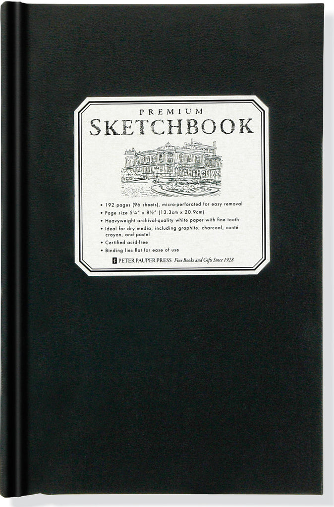 Small Black Premium Sketchbook