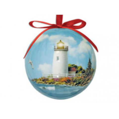Sunlit Shores Ball Ornament