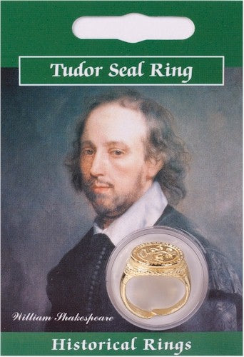 Tudor Seal Ring - Gold Plated