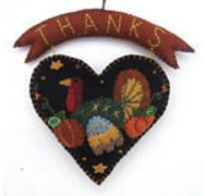 Turkey Felt Heart Ornament