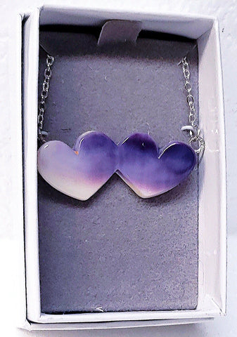 Twin Heart Wampum Necklace