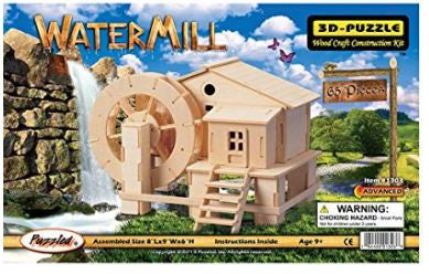 Water Mill 3D Jigsaw Woodcraft Kit Wooden Puzzle