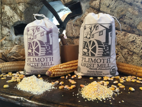 Plimoth Grist Mill Organic Yellow Cornmeal & Sampe