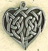 Celtic Weave Heart Necklace