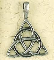 Celtic Weave Triangle Necklace