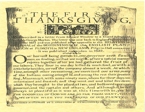 First Thanksgiving - Broadside