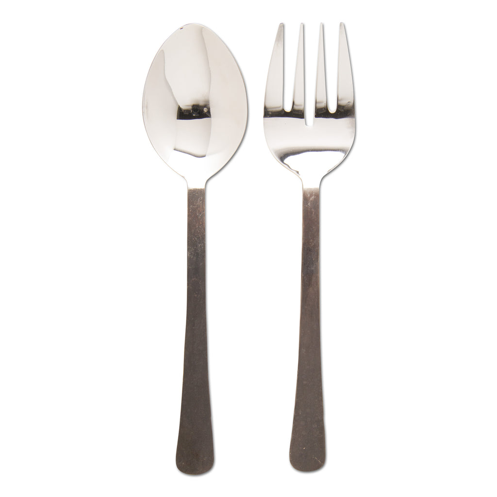 Rustic Handled Serving Spoon & Fork (Set of 2)