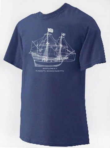 Mayflower II Ship Plans T-Shirt